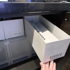 ideaco イデアコ ラップホルダーR100 幅100cm Wrap Holder r100 ラップケース ラップカバー サランラップ ケース コストコ プレンスシール   ideaco(ラップ、ペーパータオルホルダー)を使ったクチコミ「ラップやアルミホイルのストック  キッチ…」(1枚目)