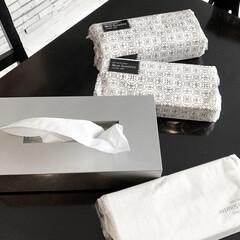 白黒/モノトーン好き/モノトーン/スギ薬局/ソフトパックティッシュ/ティッシュケース/... スギ薬局のPB商品「ソフトパックティッシ…