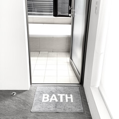 バスルーム用品/シンプル/モノトーングッズ/モノトーン/マット/バスマット/... イオンのプライベートブランド HOME …