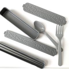 白黒グレー/白黒/モノトーン/スプーン/フォーク/箸/... セリアの新商品 デリツィオーゾシリーズが…
