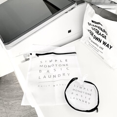 モノトーングッズ/モノトーン好き/モノトーン/洗濯機周り/おしゃれ/シンプル/... お気に入りな キャンドゥのランドリーネッ…(1枚目)