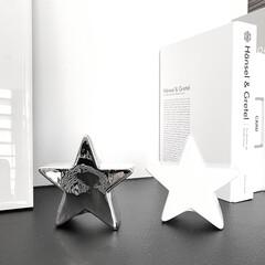 モノトーン好き/モノトーン雑貨/ほし/星/星型/インテリア雑貨/... ダイソーの星型インテリア  タイプすぎて…