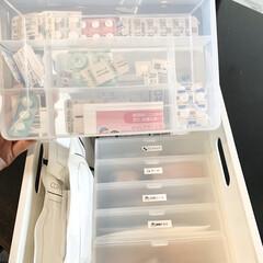 クリア/キャンドゥ/セリア/お薬収納/雑貨/100均 我が家のお薬収納 全て100均で購入した…