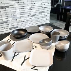 モノトーン好き/モノトーン/セリア購入品/Seria/バンブー食器/食器/... セリアの「Bamboo」シリーズ 食洗機…