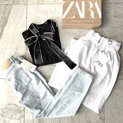 シンプルコーデ/シンプル/デニム/SALE品/SALE/セール/... ZARAのオンラインで セール品3着購入…