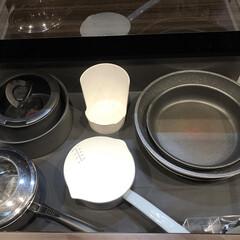 T-fal インジニオ ネオ IHステンレス エクセレンスセット6 ティファール | ティファール(圧力鍋)を使ったクチコミ「我が家のキッチン収納  IHのすぐ下のフ…」