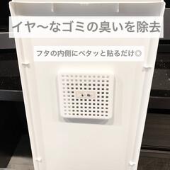 ごみ箱/消臭剤/セリア購入品/セリア/雑貨/暮らし/... セリア購入品  夏のゴミ箱の臭いを防いで…