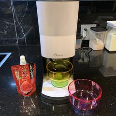 いちごシロップ/美味しい/かき氷シロップ/かき氷機/かき氷/おうちカフェ 毎日溶けるように暑いー!  先日夕食後 …