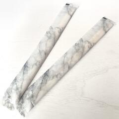 大理石柄/割り箸/セリア購入品/モノトーングッズ/セリア新商品/Seria/... セリア新商品 割り箸は完全に柄が好みでカ…