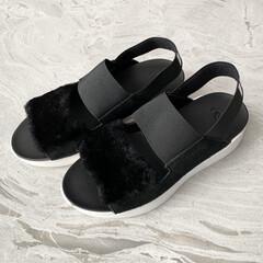 可愛い/購入品紹介/購入品/サンダル/アグ/UGG/... 夏に履ける 可愛くて歩きやすいサンダルが…