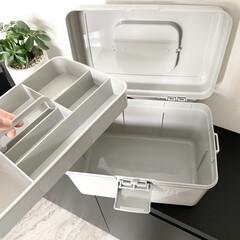 モノトーン雑貨/モノトーン収納/モノトーン/裁縫セット/救急箱収納/救急箱/... 今まで小さな収納BOXに裁縫セットを収納…(2枚目)