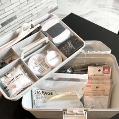 モノトーン雑貨/モノトーン収納/モノトーン/裁縫セット/救急箱収納/救急箱/... 今まで小さな収納BOXに裁縫セットを収納…(3枚目)