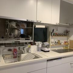 キッチン収納/収納/掃除 キッチンの拭き掃除がてら、見直ししながら…
