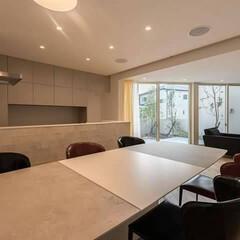 キッチン/暮らし/住まい/リフォーム 自宅インテリア クールな雰囲気のお部屋です