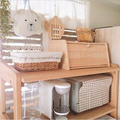 収納/ナチュラルインテリア/カフェ風インテリア/インテリア/ナチュラルキッチン/キッチン雑貨/... 食器棚の後ろにパーテーションを置いてみた…