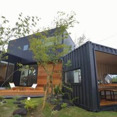 インテリア/工務店/住宅会社/住宅/家づくり/家/... 庭にコンテナハウス。 ちょっとした趣味室…