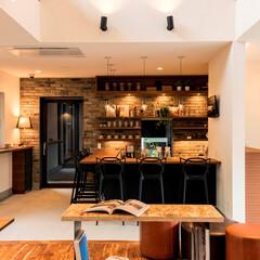 住宅/家/土間/土間キッチン/住宅会社/アネシス福岡/... 家の中にカフェのようなさ土間キッチン。 …