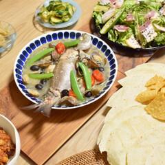 アクアパッツァ/チリコンカン/おすすめアイテム/フォロー大歓迎/お弁当/至福のひととき/... チリコンカンとアクアパッツァでパーティー…