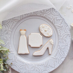 ウエディングドレス/アイシングクッキー教室/アイシングクッキー/フォロー大歓迎/至福のひととき/おやつタイム/... 6月の単発レッスンは【WEDDING】 …(2枚目)