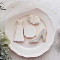ウエディングドレス/アイシングクッキー教室/アイシングクッキー/フォロー大歓迎/至福のひととき/おやつタイム/... 6月の単発レッスンは【WEDDING】 …(1枚目)