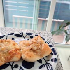 stayhome/おうち時間/パン作り/パン/おうちごはん/ランチ 晩ご飯の残りを詰めてお惣菜パン🍞形成失敗…