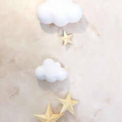 モビール/ゴールド/星/スター/雲/アロマ/... さっきの写真のモビールバージョン🌤🌟✨ …