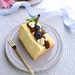 バニラシフォンケーキ/レッスン/チョコカスタードクリーム/チョコクリーム/手作りお菓子/お菓子作り/... シフォンサンド♡ バニラシフォンにチョコ…