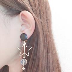 レトロ/星/アクセサリー/ファッションアイテム/ミンネ/minne/... お客様着画♡