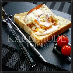 わたしのごはん/トーストパン/ハムエッグ  ■ハムエッグトースト■  基本的に白米…