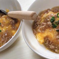 ふわとろ/たまご/あんかけ/丼物/ごはん/おうちごはん ふわふわ卵の肉あんかけ。 出汁が効いてて…