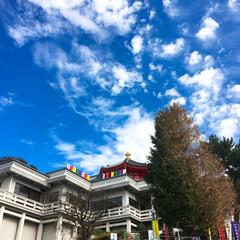 寺院/寺/雲/令和元年フォト投稿キャンペーン/はじめてフォト投稿/風景 たまたま撮影したら、雲がなんだか模様のよ…