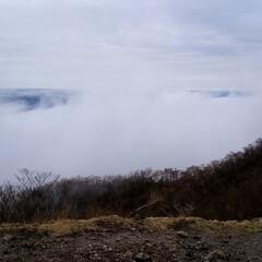 初めてフォト投稿 赤城山での朝霧です。