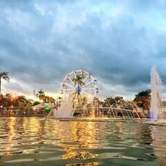遊園地/観覧車/水/噴水/ブルネイ/きれい/... 私のお気に入りの遊園地 東南アジアの国ブ…