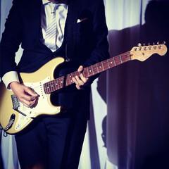 演奏/ギター/ギタリスト/お気に入りの写真/はじめてフォト投稿/フォロー大歓迎/... 友人の結婚式にて 顔が写ってないからいい…
