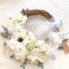 ウェディング/リース/ウェディングブーケ/結婚式/花嫁/ギフト/... 和装用のリースブーケをご注文頂きました♬…