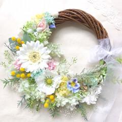 ウェディングドレス/ウェディングブーケ/結婚式/ウェディング/雑貨/住まい 春のリースブーケ💐  ウェディングブーケ…