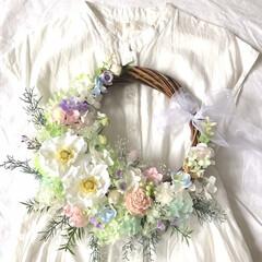 花嫁/ウェディングブーケ/結婚式準備/プレ花嫁/新築祝い/ウェディングアイテム/... .  .*・ ウェディングにもインテリア…