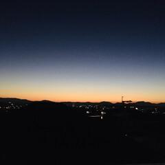 夜空/夕空/空 夕空と夜空の間(1枚目)
