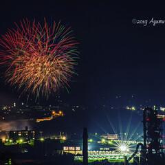 夜空/竜王山/山口県/山陽小野田市/夏の風物詩/花火/... 山陽小野田市のおのだ七夕祭り2019です…