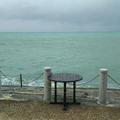 沖縄/はじめてフォト投稿 台風後の海