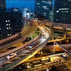 東京/ホテル/夜景/3D/首都高速/令和元年フォト投稿キャンペーン 仕事で東京に宿泊したホテルの部屋からの夜…