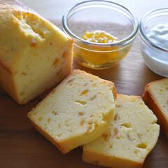 梅ジャム/お菓子作り/手作りお菓子/パウンドケーキ 梅ジャムパウンドケーキ   八百屋さんに…