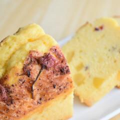 桜/手作りお菓子/パウンドケーキ/お菓子作り 桜と栗のパウンドケーキ  春物と秋物の組…