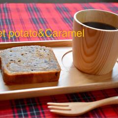 手作りお菓子/キャラメル/紫芋/パウンドケーキ/LIMIAスイーツ愛好会/おうちごはんクラブ/... ホッとしました。  キャラメルと紫芋のパ…