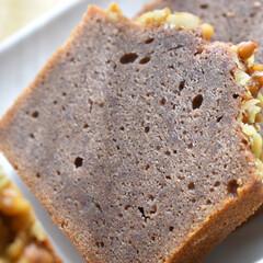 黒糖/紫芋/手作りお菓子/お菓子作り/パウンドケーキ 紫イモと黒糖のパウンドケーキ   ベタな…
