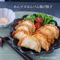 暮らし 3/29(日)  めんマヨはんぺん揚げ餃…