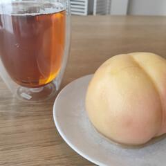 ボダム パヴィーナ ペアダブルウォールグラス 〈4559‐10〉 〈A5〉 食器 お祝い 内祝い お返し 出産内祝い お祝い返しギフト | ボダム(コップ、グラス)を使ったクチコミ「きょうのおやつは桃まるごとケーキ。  ケ…」