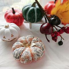 ハロウィン/かぼちゃフェスタ/minneで販売中/minne/針仕事/裁縫道具/... Bloomsかぼちゃピンクッションフェス…(4枚目)