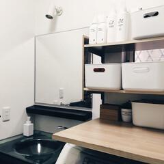 脱衣室/おすすめアイテム/はじめてフォト投稿/LIMIAインテリア部/収納/住まい/... 初投稿です。  我が家の脱衣室。無印良品…