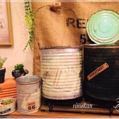 リメ缶/デコパージュ/ザラザラ加工/ザラザラベース/DIY/ハンドメイド/... リメ缶🥫✨ シンプル仕上げ🌱 ザラザラ加…